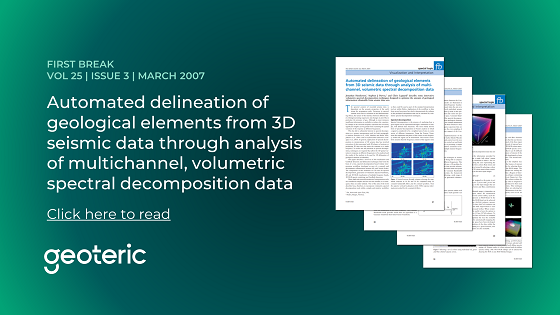 First Break VOL 30 ISSUE 5 May 2012 Automated delineation of geological elements from 3D seismic data through analysis of multichannel, volumetric spectral decomposition data