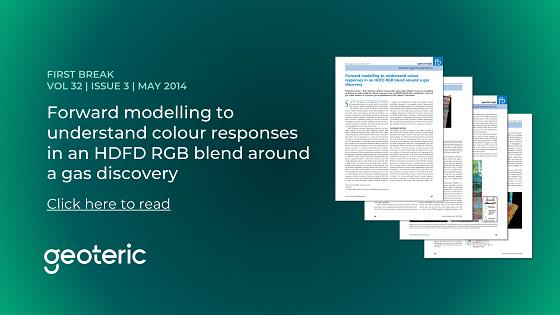 First Break VOL 32 ISSUE 3 May 2014 Forward modelling to understand colour responses in an HDFD RGB blend around a gas discovery