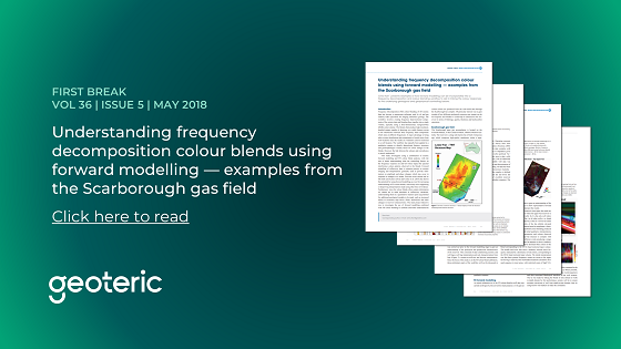 First Break VOL 36 ISSUE 5 May 2018 Understanding frequency decomposition colour blends using forward modelling — examples from the Scarborough gas field
