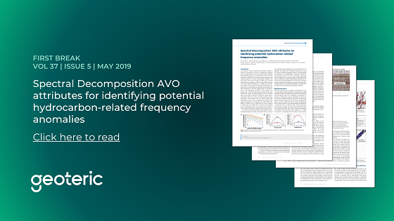 First Break VOL 37 ISSUE 5 May 2019 Spectral Decomposition AVO attributes for identifying potential hydrocarbon-related frequency anomalies