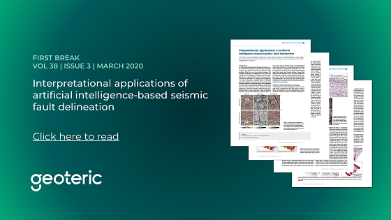 First Break VOL 38 ISSUE 3 March 2020 Interpretational applications of artificial intelligence based seismic fault delineation