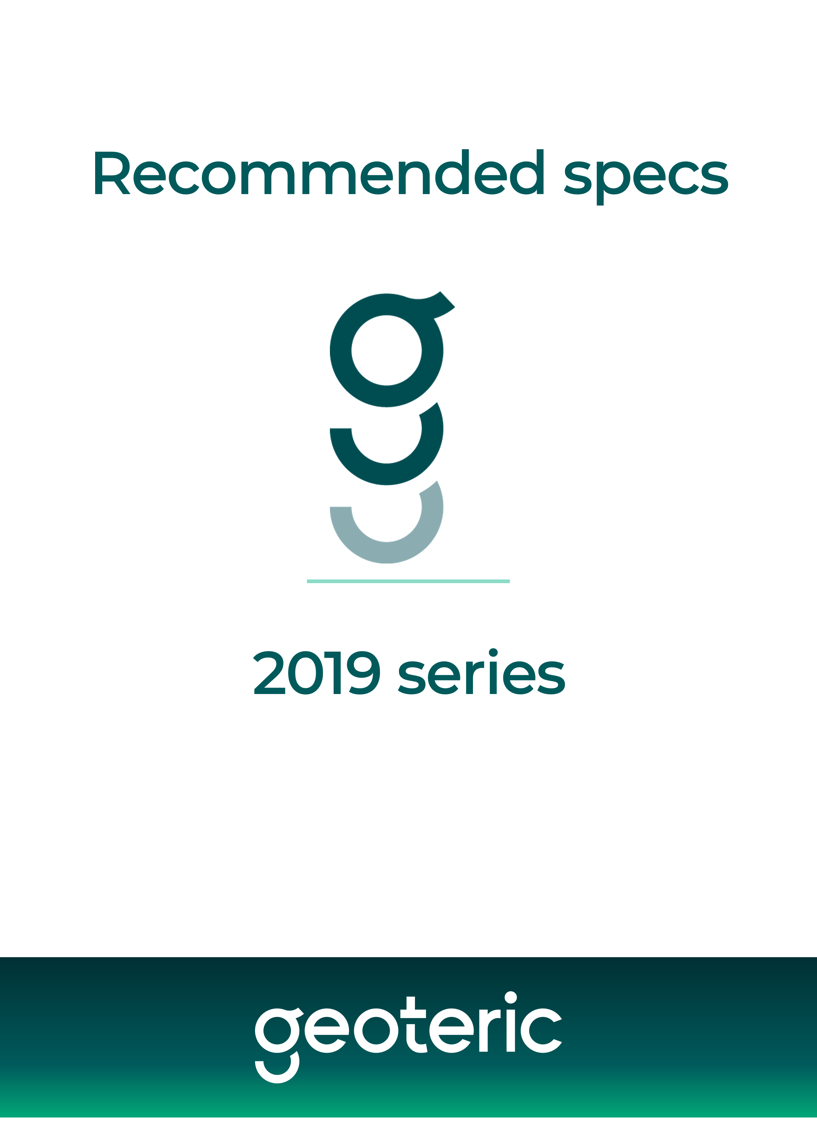 Recommended specs 2019 series