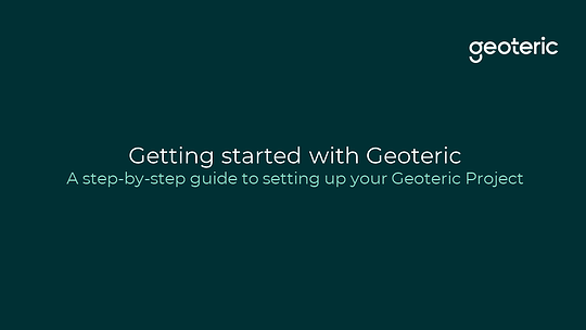 Getting started with Geoteric