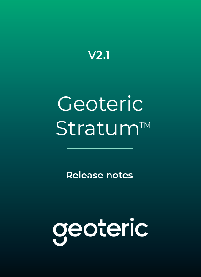Geoteric Stratum 2.1 - release notes icon
