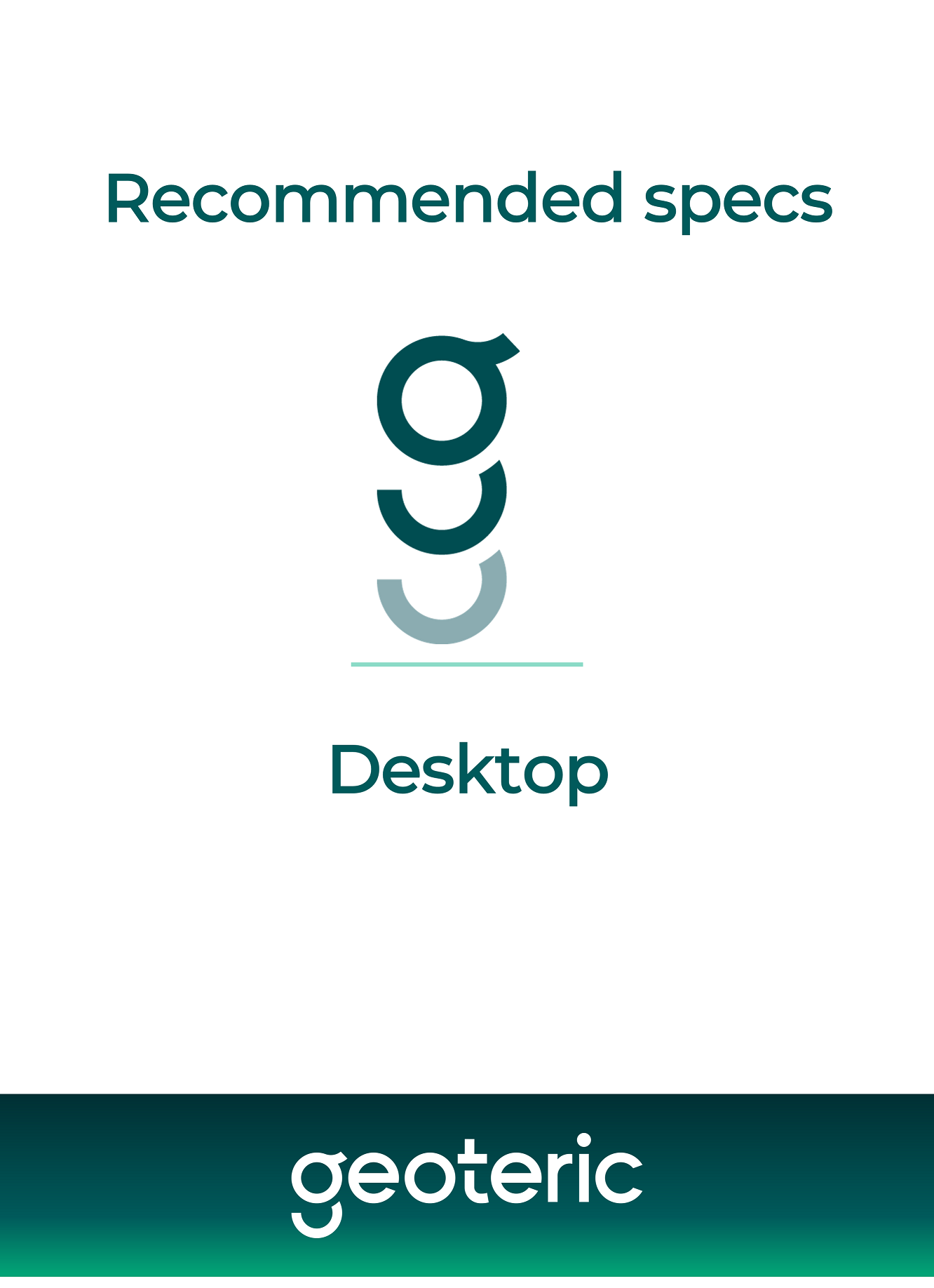Recommended specs – desktop